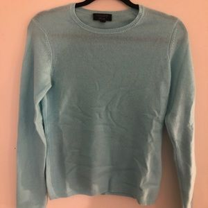 Charter club light blue cashmere sweater